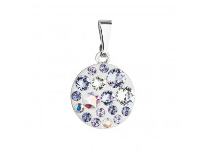Přívěsek bižuterie se Swarovski krystaly fialový kulatý 54023.3 violet
