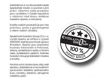 Sada šperků s krystaly Swarovski náušnice a přívěsek bílý 39167.1
