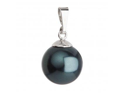 Stříbrný přívěsek se zelenou kulatou perlou 734151.3
