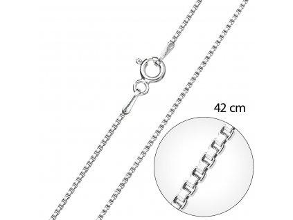 Stříbrný řetízek kulatý délka 42 cm 30014