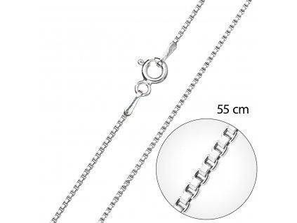 Stříbrný řetízek kulatý délka 55 cm 30014