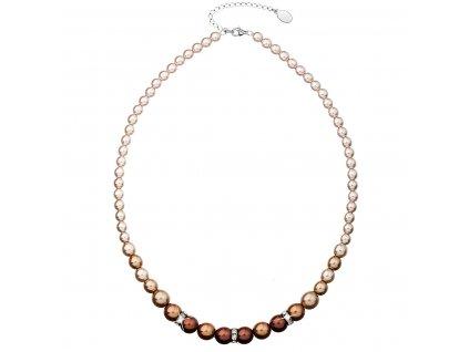 Perlový náhrdelník hnědý 32005.3