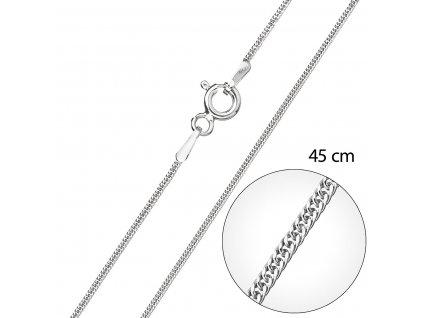 Stříbrný řetízek kulatý délka 45 cm 30015