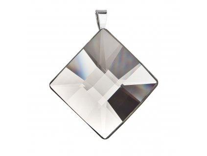 Stříbrný přívěsek kosočtverec šedý 74090.3 black diamond
