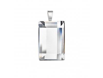 Stříbrný přívěsek obdélník bílý 74091.1
