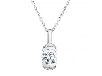 Zlatý náhrdelník 82010.1 bílé zlato s briliantem