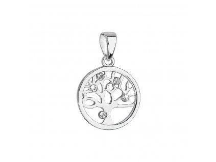 Stříbrný přívěsek se Swarovski krystaly strom života 34258.1