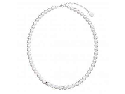 Perlový náhrdelník bílý 32012.1