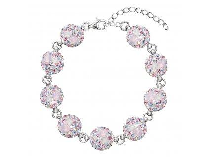 Stříbrný náramek se Swarovski krystaly růžový 33048.3 magic rose