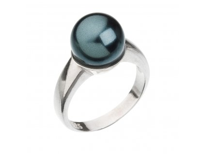 Stříbrný prsten s perlou zelený 35022.3 tahiti