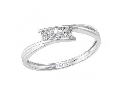 Zlatý prsten 85005.1 bílé zlato s brilianty