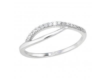Zlatý prsten 85022.1 bílé zlato s brilianty