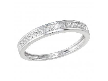 Zlatý prsten 85031.1 bílé zlato s brilianty