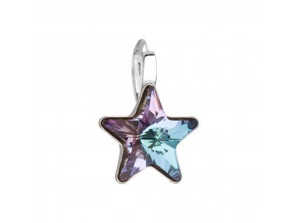 Stříbrný přívěsek s krystalem Swarovski fialová hvězdička 34226.5