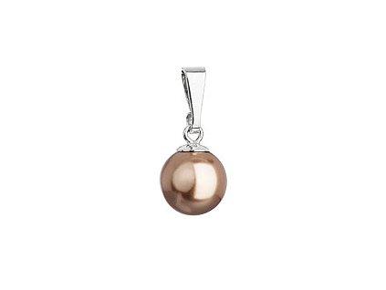 Stříbrný přívěsek s bronzovou kulatou perlou 74095.3 bronze