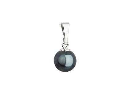 Stříbrný přívěsek se zelenou kulatou perlou 74095.3 tahiti