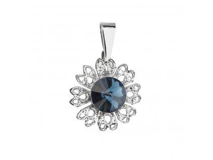 Přívěsek bižuterie se Swarovski krystaly modrá kytička 54032.3 montana