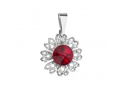 Přívěsek bižuterie se Swarovski krystaly červená kytička 54032.3 siam