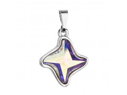 Přívěsek bižuterie se Swarovski krystaly AB efekt hvězdička 54034.2