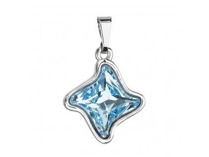 Přívěsek bižuterie se Swarovski krystaly modrá hvězdička 54034.3 aqua