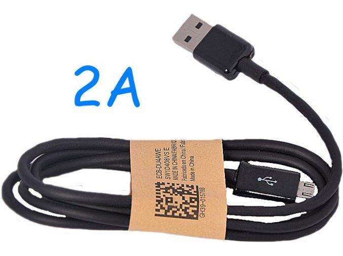 Univerzální USB-MICRO USB kabel 2A Black (2000mA)