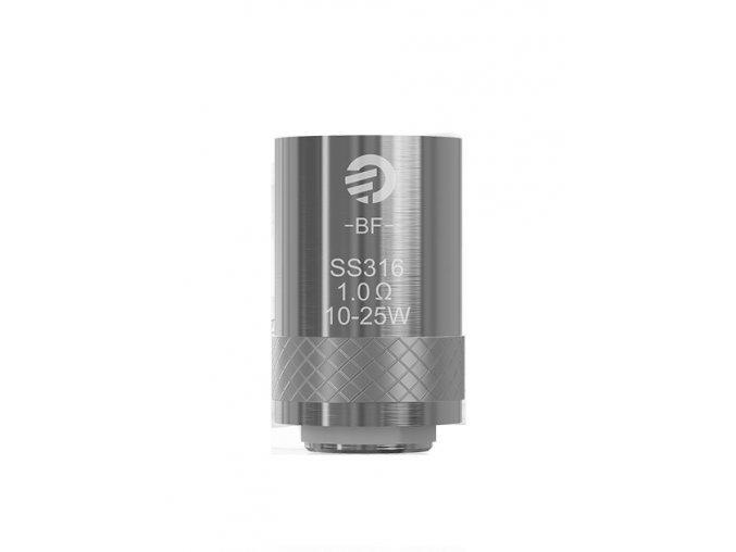 Joyetech Žhavící hlava BF pro eGO AIO-Cubis-Cuboid Mini nerez SS316 1ohm MTL. 10-20W