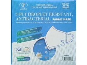 NANO SILVER rouška textilní, 3 vrstvá, antibakteriální 3