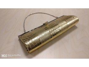 kabelka zlata krokodyl2