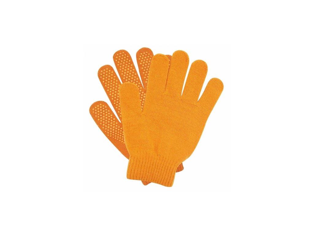 Rukavice dětské pletené s gripem