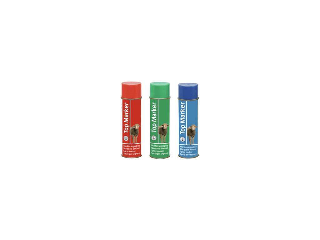 Barva značkovací ve spreji pro ovce Top Marker 500 ml