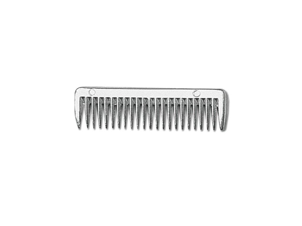 Hřeben kovový malý, 9x3 cm