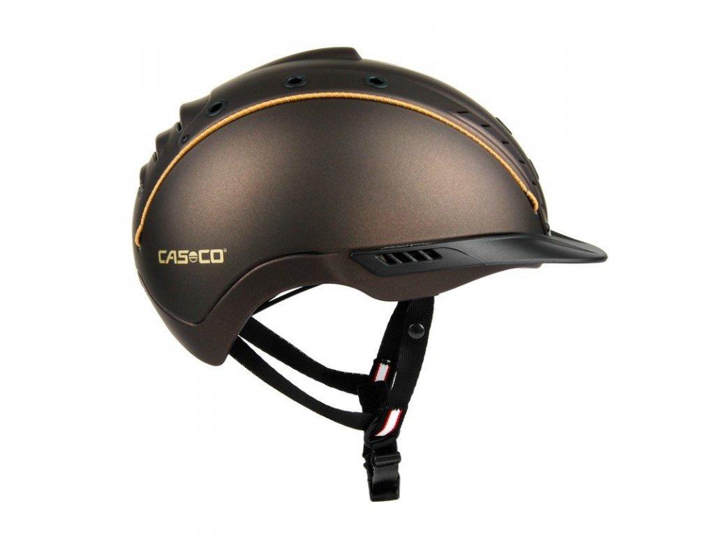 Jezdecká helma CASCO Mistrall 2 - VG01, hnědá