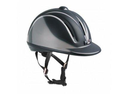 Jezdecká helma Casco Youngster černá lesk VG1