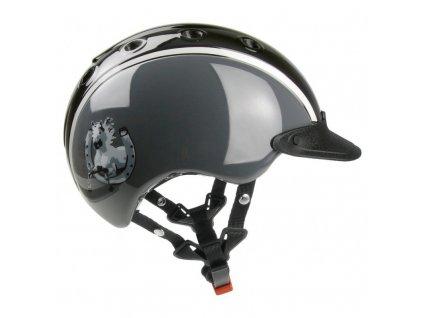 Jezdecká helma CASCO NORI Horse shoe, šedá