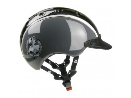 Jezdecká helma CASCO NORI Horse shoe black grey