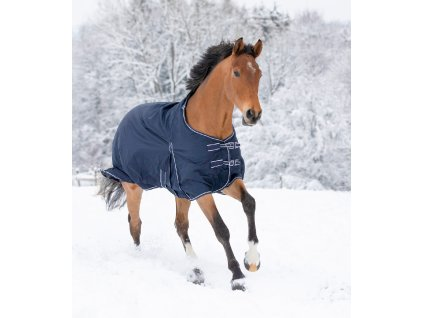 Výběhová deka, pláštěnka Economic Waldhausen fleece, tmavě modrá