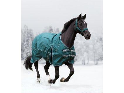 Výběhová deka Waldhausen Comfort, pláštěnka fleece, zelená