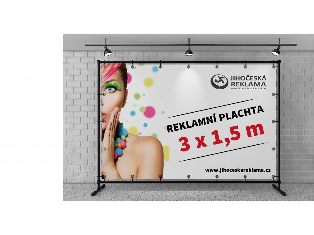 Reklamný plachta - banner 3 X 1,5 m