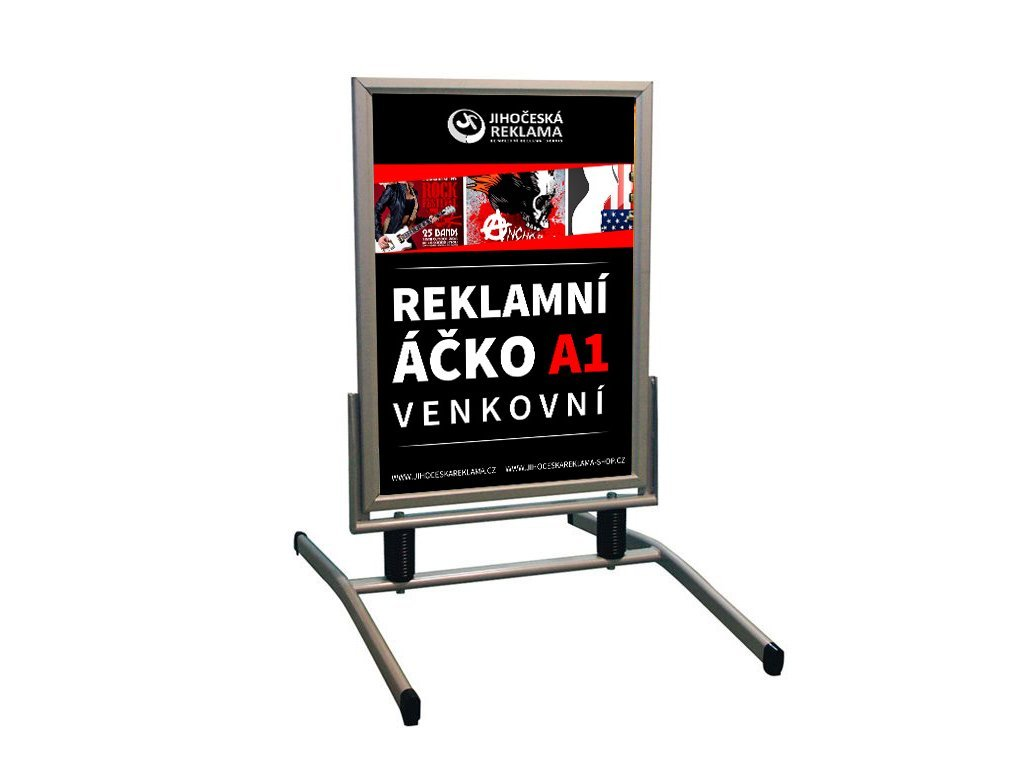 Reklamný stojan - áčko A1 vonkajšie