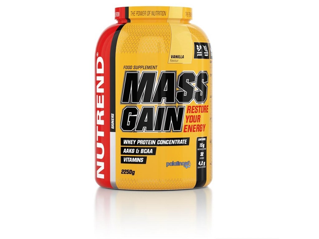 Nutrend Mass Gain 2250g (Gainer na objem)