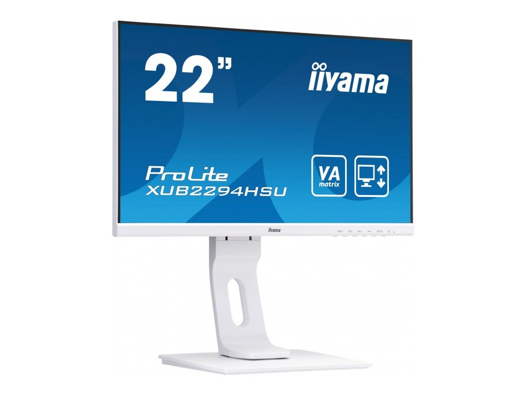 monitor iyama prolite xub2294hsu w1 22 bily full hd va 75hz bluelightreducer