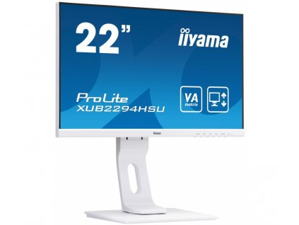 monitor iyama prolite xub2294hsu w1 22 bily full hd va 75hz bluelightreducer