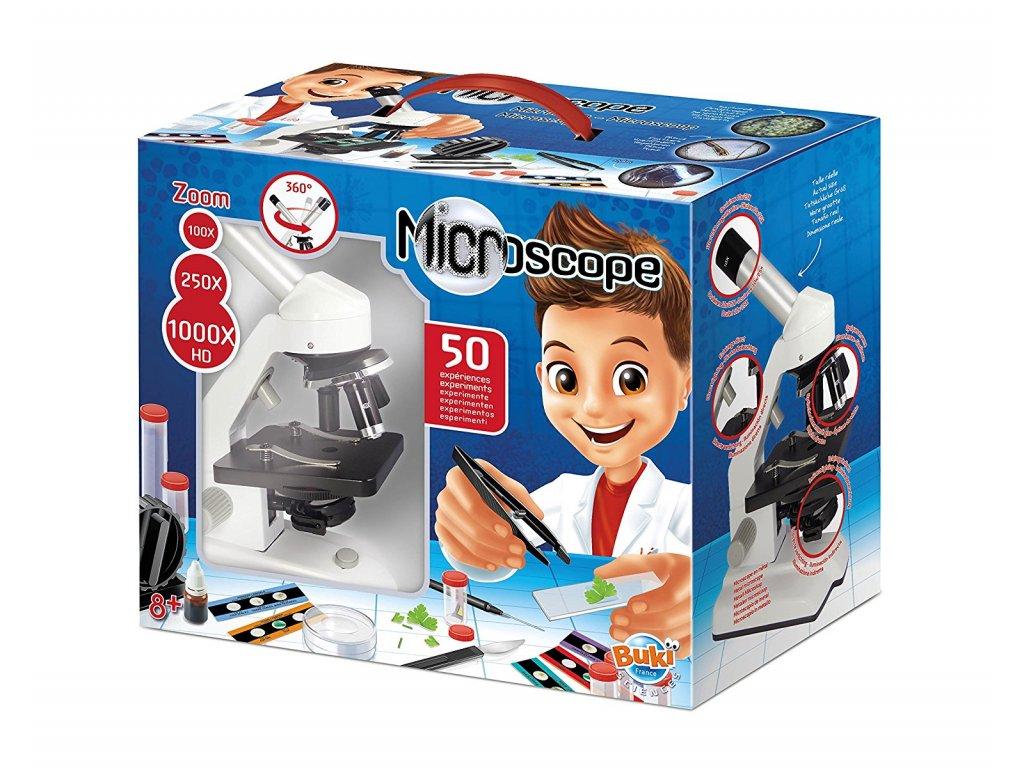Mikroskop - zvětšení 1000x a 50 pokusů