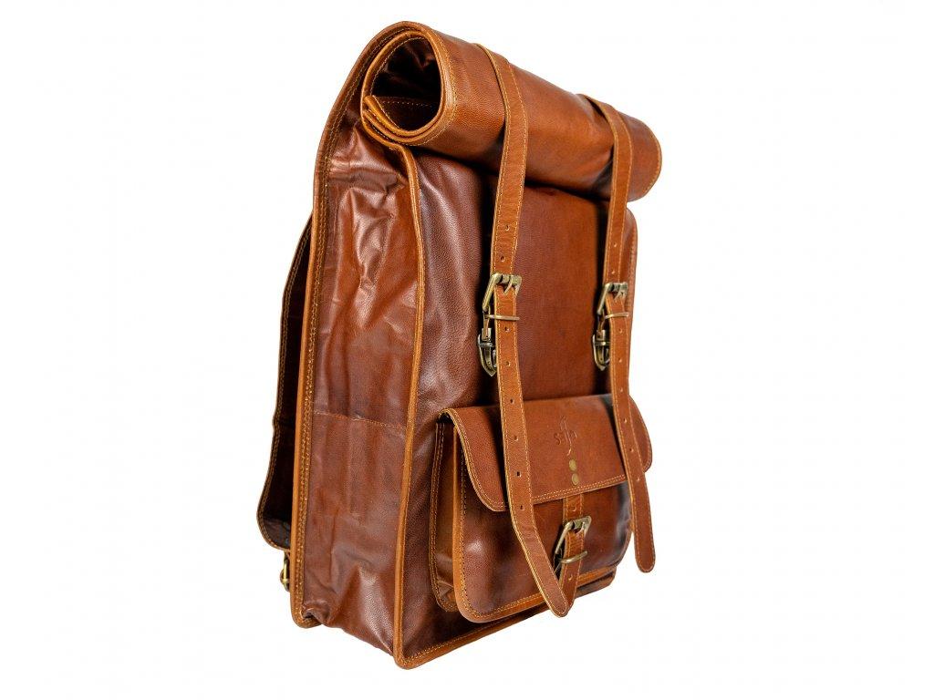 336eaaf961c Kožený batoh Roll Top - JSEM KOZA