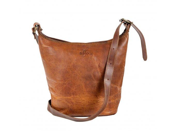 Dámská kožená městská taška