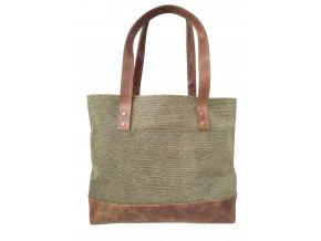 Městská kabelka - plátno, kůže