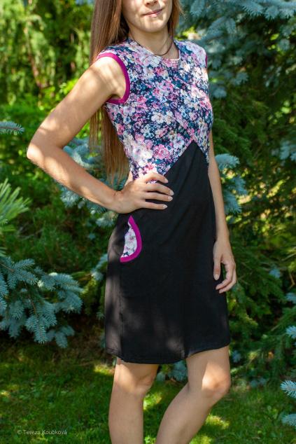 Kojicí šaty Jsem máma, rozkvetlá zahrada