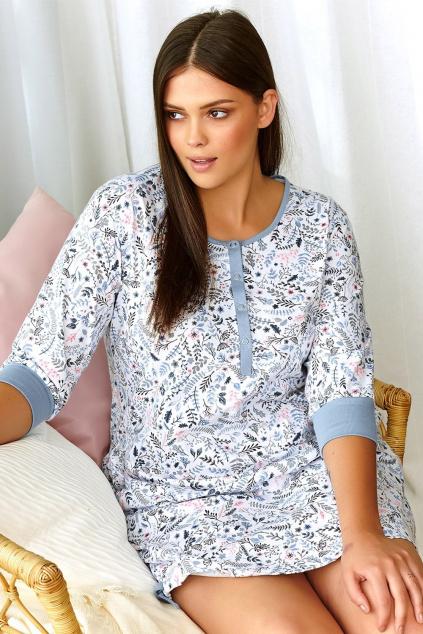 koszula nocna dla kobiet w ciazy i karmiacych w piekny kwiatowy wzor (1)