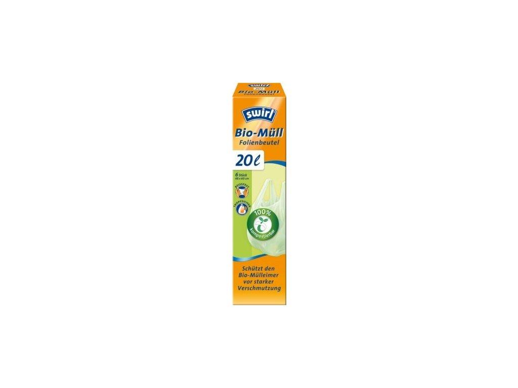 Swirl Bio kompostovatelné pytle s uchy (6ks) - 20 l