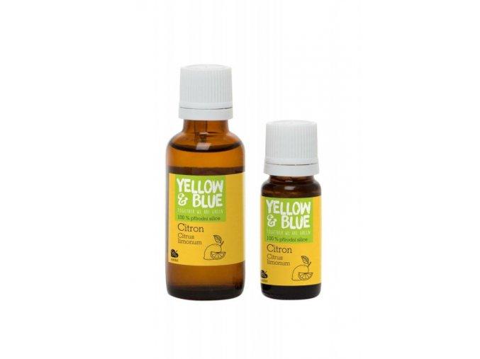 Yellow&Blue Citronová silice (10 ml) - přírodní éterický olej  jsme BIO